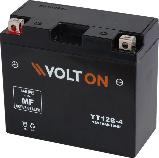 Baterie moto VoltON 12V 10 Ah (YT12B-4)