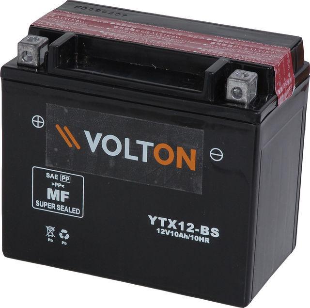Baterie moto VoltON 12V 10 Ah (YTX12-BS)